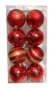 shatterproof ornaments various counts gold