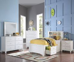 Bookcase Bed Full Mallowsea Full Size Bookcase Storage Bed In White Finish 30415f