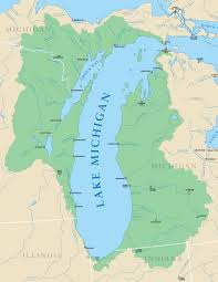 Map Of The State Of Michigan by Lake Michigan Illinois State Climatologist