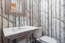 kohler memoirs powder room contemporary with bathroom accessories