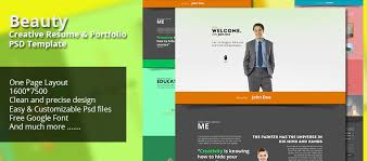 resume portfolio template creative resume portfolio psd template creativecrunk