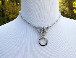steel collar necklace images 24 7 wear submissive o ring bdsm discreet day collar necklace jpg
