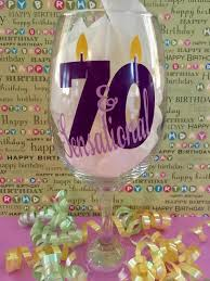 Mirs Rugs Seventy And Sensational 70th Birthday Wine Glass 70th