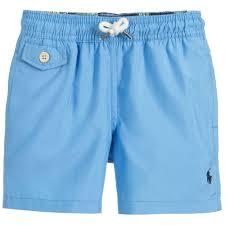 ralph lauren light blue ralph lauren boys light blue swim shorts childrensalon