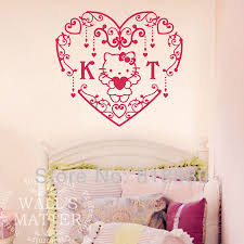 best repositionable wallpaper removable repositionable hello kitty wall decal brighten space