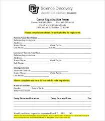 Template Registration Form 10 printable registration form templates free sle exmaple