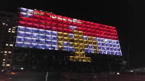 Image Of Flag Of Egypt I24news Tel Aviv U0027s City Hall Lit Up With The Egyptian Flag In