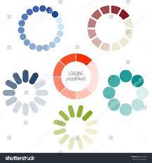 loading process circular icon set color stock vector 360722963