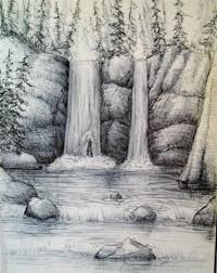 how to draw a waterfall step by step art pinterest