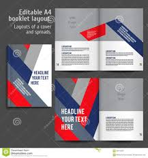 a4 book layout design template stock vector image 58419259