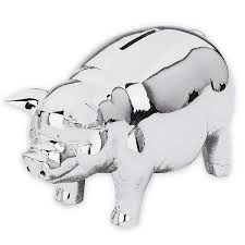 personalized silver piggy bank classic silver piggy bank piggy banks