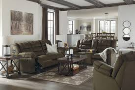 Ashley Reclining Loveseat With Console Mort Umber Reclining Sofa U0026 Double Reclining Loveseat W