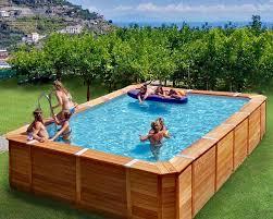 rivestimento in legno per piscine fuori terra 20 modelli di piscine fuori terra in legno mondodesign it