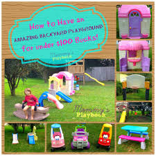 Best Backyards Cheap Outdoor Play Area Inexpensive Playground Best Backyards