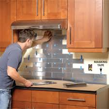 Peel And Stick Metal Backsplash by No Fuss Or Grout Tile Backsplash Project Wny Handyman