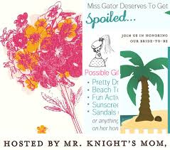 honeymoon bridal shower a bridal shower invitation with character gbvideo