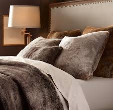 Faux Fur Duvet Cover Queen Love The Faux Look To Make It More Cozy And Rustic Luxe Faux Fur