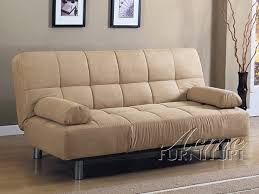 cybil beige microfiber adjustable sofa bed by acme 05855