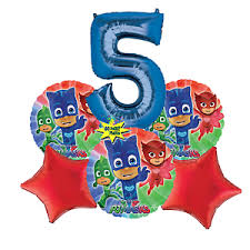 pj mask balloons bouquet birthday number 5 ebay