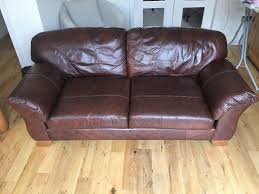 Leather Sofa Edinburgh 2 Seater Brown Leather Sofa For Sale Sofa In Condition