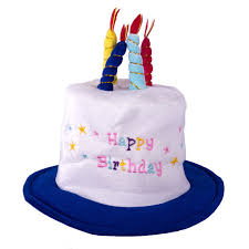 happy birthday hat happy birthday hat with candles blue fofo party the discount