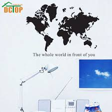 popular map wall murals buy cheap map wall murals lots from china dctop the whole world in front of you wall sticker quote vinyl removable art the world