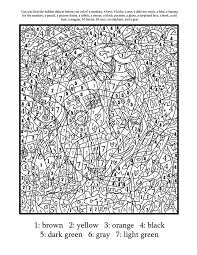 color numbers coloring pages kids