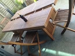 john lewis drift dining table and 6 folding chairs set new