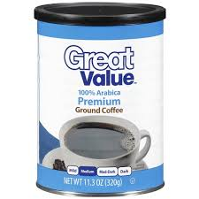 great value premium ground coffee medium roast 11 3 oz walmart com