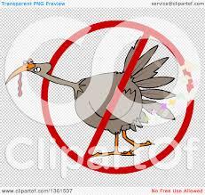 clipart of a cartoon brown thanksgiving turkey bird in a