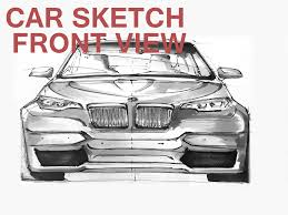 how to sketch a car front view bmw m5 concept youtube