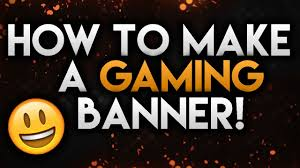 how to make a halloween banner how to make a gaming banner in photoshop clean u0026 fresh youtube