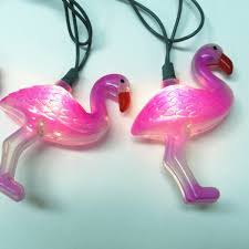 pink flamingo patio lights flamingo string lights novelty party lights