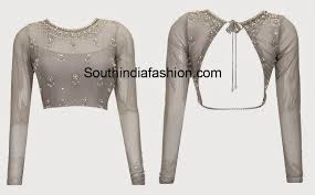 net blouse pattern 2015 tie back saree blouse fashion trends south india fashion