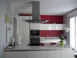enchanteur mur couleur framboise et meuble de cuisine blanc quelle