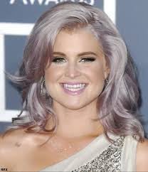 redken sharon osborn red hair color kelly osbourne with cool lilac and silver toned hair at the 54th