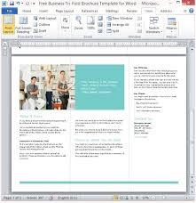 4 fold brochure template word free business tri fold brochure template for word