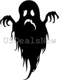 2 spooky ghost silhouette halloween vinyl decal car window