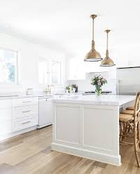 Modern Farmhouse Kitchen by Modern Farmhouse Kitchen Island In Dulux U0027pale Tendril U0027 And