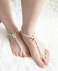 wedding shoes kl crystallized barefoot sandals bridal foot jewelry wedding