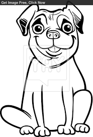 9 pics of pug dog cartoon coloring pages pug printable coloring