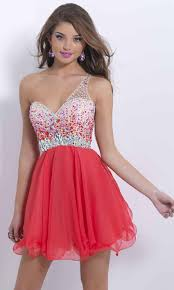 amazing rhinestone one shoulder short red prom dress uk ksp386