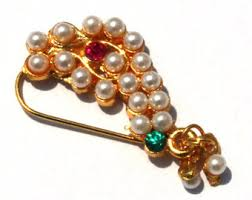 Buy Maharashtrian Traditional Nath Clip Gold Nath Nose Pin Etsy