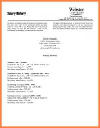 Resume With Salary History Example by Cover Letter Salary Historycover Letter With Salary Requirements 1