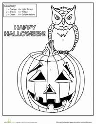 worksheets halloween addition coloring worksheets free