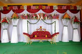 simple stage decoration for wedding decorating of party