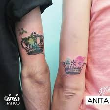 king u0026 queen tattoos his u0026 hers couple crown tattoo ideas