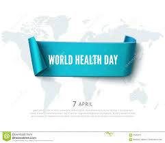 Realistic Map Of The World by Health Day Concept With Green Paper Ribbon Banner World Map And
