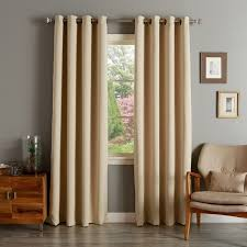 108 Inch Panel Curtains Aurora Home Solid Grommet Top Thermal Insulated 108 Inch Blackout