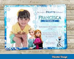 elsa anna frozen invitation frozen birthday invitation